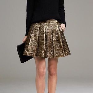 Banana Republic Gold Skirt